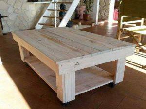 table salon en bois de palette
