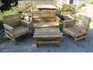 Tuto salon de jardin en palette guide et plans de - Ou acheter un salon de jardin ...