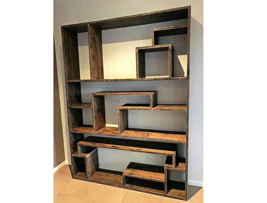 la biblioth que contemporaine tuto palette. Black Bedroom Furniture Sets. Home Design Ideas