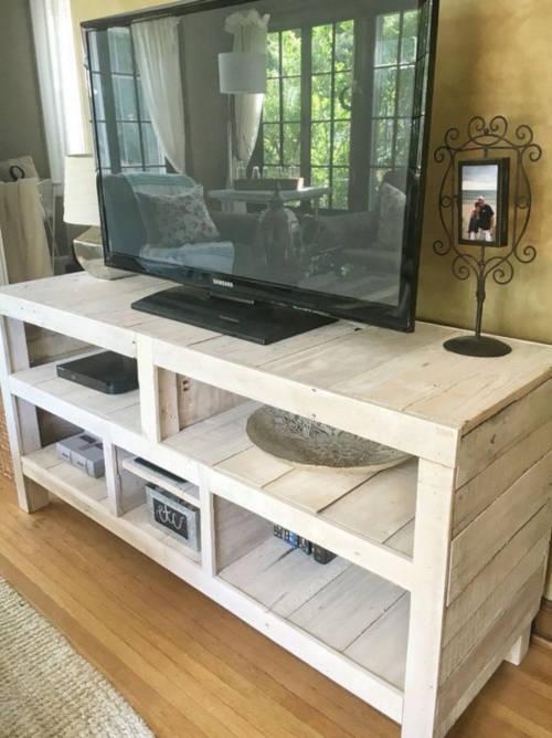 meuble tv palette plan
